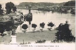 33641. Postal BAYONNE ( Pyrenées Atlantiques). Nouvelle Place Et L'Adour - Bayonne
