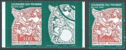 """FR YT 3135 & 3136a Avec Vignette """" La Journée Du Timbre """" 1998 Neuf** - France"""