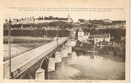 33642. Postal CHINON (Indre Et Loire) Pont Sur La Vienne Et Le Chateau - Chinon