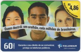 BRASIL I-974 Magnetic Telemar - People, Youth - Used - Brasilien