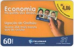 BRASIL I-976 Magnetic Telemar - Collection, Phonecard - Used - Brasilien