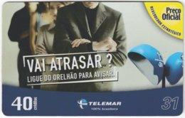 BRASIL I-993 Magnetic Telemar - Communication, Phone Booth - Used - Brasilien