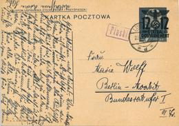GENERALG. / PIASKI / LUBLIN - 23.7.1940 , Polnische Ganzsache (Druckdatum VI-1939)  Mit Überdruck - Nach Berlin-Moabit - Besetzungen 1938-45