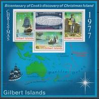 Gilbert Isl 1977 - 200th Anniv Of Cook's Discovery Of Christmas Islands - Miniature Sheet Mi Block 4 (295-298) ** MNH - Îles Gilbert Et Ellice (...-1979)