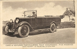 CARS ET VOITURES PARTICULIERES . ROBERT HUCHET +CARTE GEO DERRIERE - Belle Ile En Mer