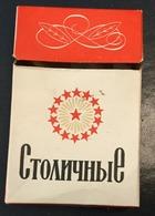 EMPTY  TOBACCO  BOX    CIGARETTES  STOLICNAJA  RUSSIA - Contenitori Di Tabacco (vuoti)