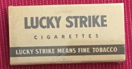 FULL    TOBACCO  BOX    CIGARETTES  LUCKY STRIKE - Contenitori Di Tabacco (vuoti)