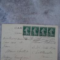 ANNEAU LUNE SUR BANDE DE QUATRE AVRIL 1927 - Variétés: 1921-30 Lettres & Documents
