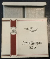 FULL    TOBACCO  BOX    CIGARETTES  THREE  THREES   STATE EXPRESS 333 - Contenitori Di Tabacco (vuoti)