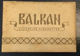 FULL    TOBACCO  BOX    CIGARETTES  BALKAN  SUPERFINE CIGARETTES  PRODUCT OF YUGOSLAVIA  ROVINJ - Contenitori Di Tabacco (vuoti)