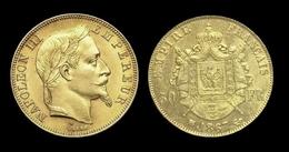 COPIE - 1 Pièce Plaquée OR Sous Capsule ! ( GOLD Plated Coin ) - France - 50 Francs Napoléon III Tête Laurée 1867 BB - N. 50 Francs