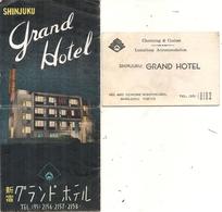 GRAND HOTEL SHINJUKU . TOKYO . DEPLIANT - Publicités