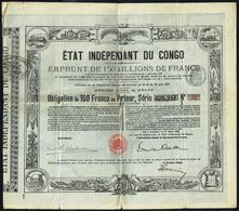 ETAT INDEPENDANT DU CONGO - Emprunt De 150 Millions De Francs - Obligation De 100 Frs Au Porteur - 1888. - Africa