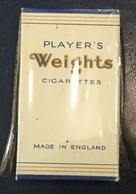 FULL    TOBACCO  BOX    CIGARETTES    PLAYER'S WEIGHTS  ENGLAND - Contenitori Di Tabacco (vuoti)