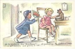 Cpa Illustrateur - Germaine Bouret – Je Te Souhaite Du Bonheur …  ( ILL ) - Bouret, Germaine