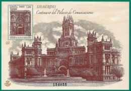 España. Spain. 2019. Centenario Del Palacio De Comunicaciones - 1931-Hoy: 2ª República - ... Juan Carlos I