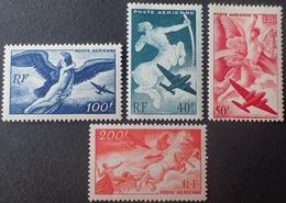 R1615/428 - 1946 - POSTE AERIENNE - SERIE MYTHOLOGIQUE - N°16 à 19 NEUFS** - 1927-1959 Mint/hinged