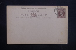 MAROC - Oblitération De Tanger Sur Entier Postal De Gibraltar - L 36886 - Oficinas En  Marruecos / Tanger : (...-1958
