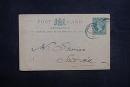 GIBRALTAR - Entier Postal Voyagé En 1896 - L 36888 - Gibilterra