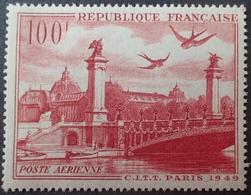R1615/432 - 1949 - POSTE AERIENNE - PARIS - N°28 NEUF** - LUXE - 1927-1959 Mint/hinged