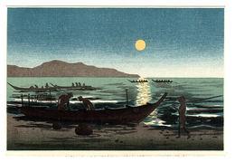 JAPAN - Carte Illustrateur - PAYSAGE JAPONAIS - BARQUE - PÊCHEURS - Altri