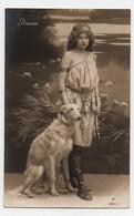CPA Femme Diana Chasse Arc Flêches Chien Lévrier Blanc Papier Radium Brom PN 4204-2 - Women