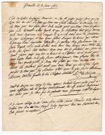Lettre 1783 Grenoble Isère Dauphiné Largentière Ardèche Vivarais Fontaine De Logères Comte De Biron - Marcofilie (Brieven)