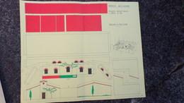 87- LIMOGES -RARE PLAN HABITATION GALLO ROMAINE DECOUVERTE BOULEVARD GAMBETTA EN 1969-RENAISSANCE VIEUX LIMOGES LOUSTAUD - Architecture