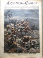 La Domenica Del Corriere 8 Novembre 1914 WW1 Anversa Feriti Tedeschi In Francia - Guerra 1914-18