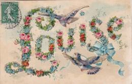TRES JOLIE CARTE GAUFFREE / LOUISE - Firstnames