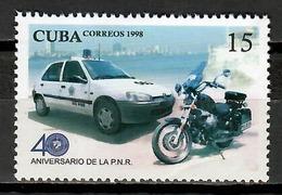 Cuba 1998 / Police Car Motorbike MNH Policía Coches Autos Motocicleta / Cu11718  C1-13 - Polizia – Gendarmeria