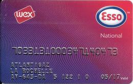 CARTE-MAGNETIQUE-CARBURANTS-ESSO /WEX-NATIONAL-Exp 05/97-VIOLET/ GENAT--V° XX-000--CPI-TBE-RARE - Frankrijk