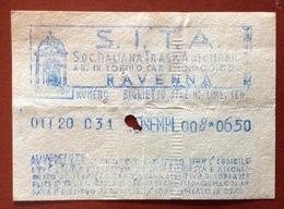 BIGLIETTO S.I.T.A.  RAVENNA SOC.ITALIANA TRASPORTI AUTOMOBOLISTICI  BIGLIETTO  20 OTT. 031 - Autobus