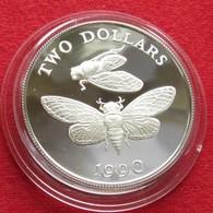 Bermuda 2 $ 1990 Cicada Silver Bermudes - Bermuda