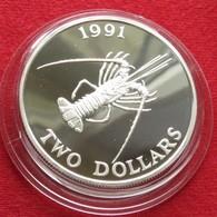 Bermuda 2 $ 1991 Lobster Silver Bermudes - Bermuda