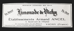 LIMONADE VICHY ARMAND ANCEL PUBLICITE 1926 PUR SUCRE GAZ NATUREL LIMONADIER ADVERTISING LEMONADE DRINK - Pubblicitari