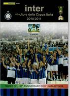 ITALIA 2011 - FOLDER  INTER VINCITORE COPPA ITALIA  - SENZA SPESE POSTALI - 6. 1946-.. Republic
