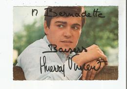 THIERRY VINCENT CARTE AVEC AUTOGRAPHE - Autogramme & Autographen