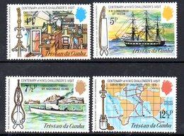 Tristan Da Cunha 1973 Centenary Of HMS Challenger Visit Set Of 4, MNH, SG 177/80 - Tristan Da Cunha