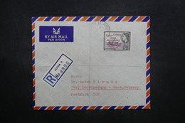 GHANA - Enveloppe En Recommandé De Accra Pour L 'Allemagne En 1959, Affranchissement Plaisant Surchargé - L 36915 - Ghana (1957-...)