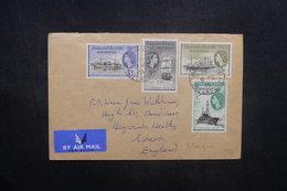 FALKLAND - Enveloppe Pour Le Royaume Uni En 1955, Affranchissement Plaisant  - L 36917 - Falkland Islands