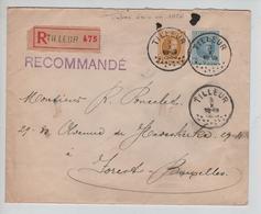 SJ174/ TP 205-207 Albert Houyoux S/L.Recommandée C.Tilleur 3/10/ ? > Forest Vignette Tuberculeux De La Guerre 14-18 - Covers & Documents