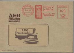 Germany 1959 Elektricity AEG Gauge / Strom Messgeraet / Meter Mark AFS  H187 - Usines & Industries