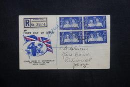 AFRIQUE DU SUD - Enveloppe FDC En 1947 En Recommandé - L 36925 - South Africa (...-1961)