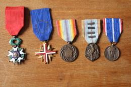 5 Medailles D'un Ancien Combattant Deuxieme Guerre Mondiale - France
