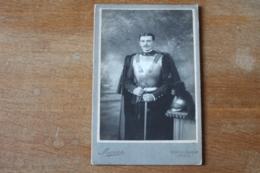 Cabinet Cuirassier 5 Eme Regiment  Cuirasse Et Casque à Criniere  Vers 1900 - Guerre, Militaire