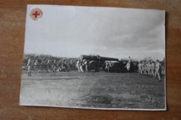 Photo Militaire Artillerie  Lourde Vers 1930  Deplacement  D'une Piece Belfort - Guerre, Militaire