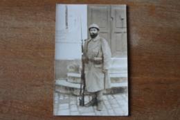 Photo  Militaire   Le Poilu  Tenue De Combat  Bleu Horizon  Datée 1916  52 Eme Territorial - 1914-18