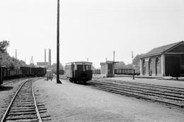 Lumbres. Ligne CGL Anvin - Calais. Cliché Jacques Bazin. 25-05-1953 - Trains