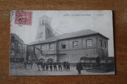 Carte Postale Ancienne Lens  La Garde D'une Mine  Durant Les Greves  Interessant Texte - Lens
